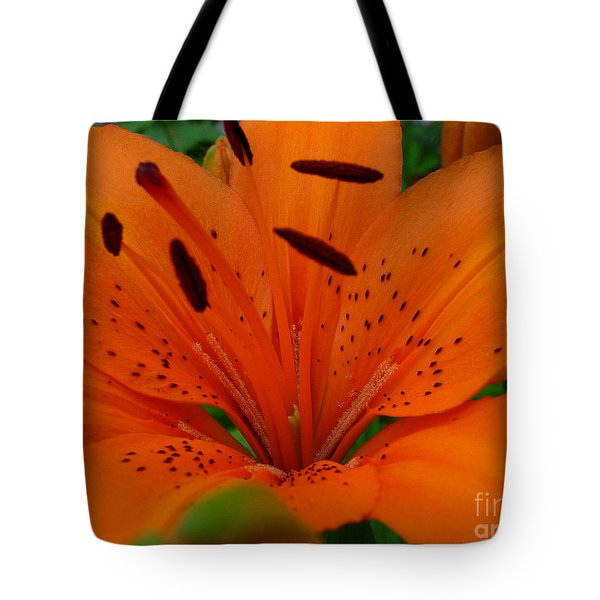 Tote Bag featuring the photograph Tiger Lily by Bianca Nadeau