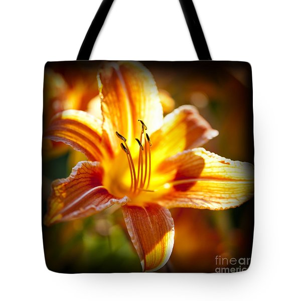 Tiger Lily Flower Tote Bag by Elena Elisseeva