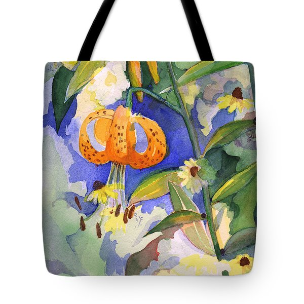 Tiger Lily In Dappled Light  Tote Bag