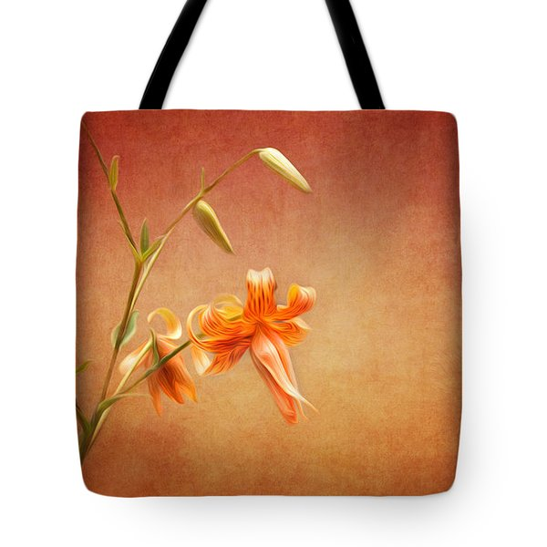 Tiger Lily Tote Bag by Lena Auxier