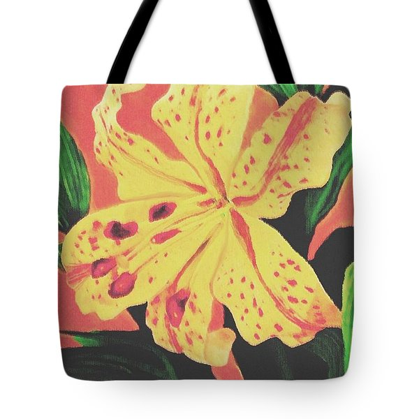 Tote Bag featuring the painting Tiger Lily by Sophia Schmierer