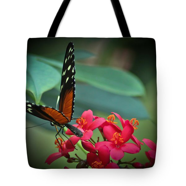 Tiger Longwing Butterfly Tote Bag by Joann Copeland-Paul
