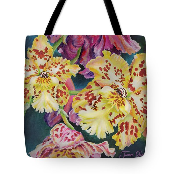 Tote Bag featuring the painting Tiger Orchid by Jane Girardot