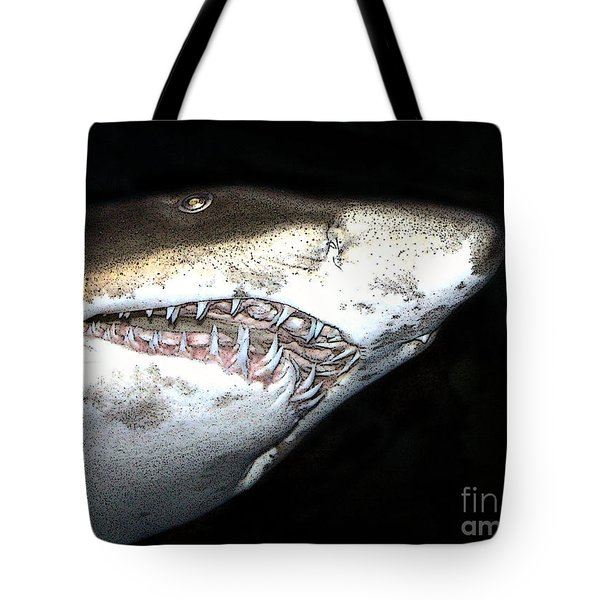 Tote Bag featuring the photograph Tiger Shark by Sergey Lukashin