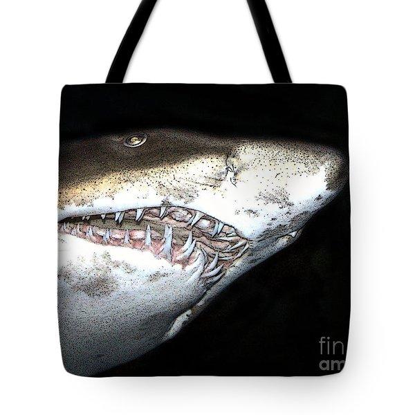 Tiger Shark Tote Bag by Sergey Lukashin