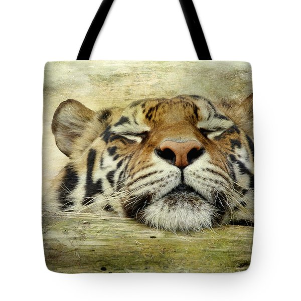 Tiger Snooze Tote Bag