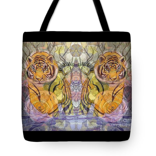 Tiger Spirits In The Garden Of The Buddha Tote Bag by Joseph J Stevens