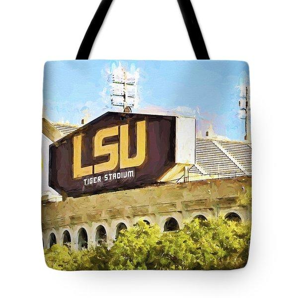 Tiger Stadium - Bw Tote Bag