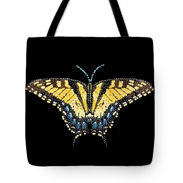 Tiger Swallowtail Butterfly Bedazzled Tote Bag