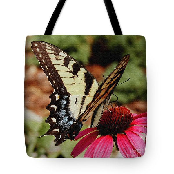 Tote Bag featuring the photograph Tiger Swallowtail  by James C Thomas