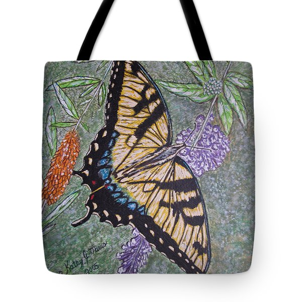 Tiger Swallowtail Butterfly Tote Bag by Kathy Marrs Chandler