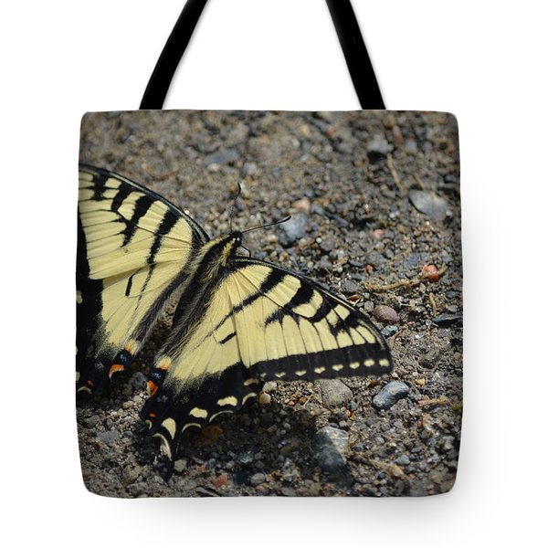 Tote Bag featuring the photograph Tiger Swallowtail by James Petersen