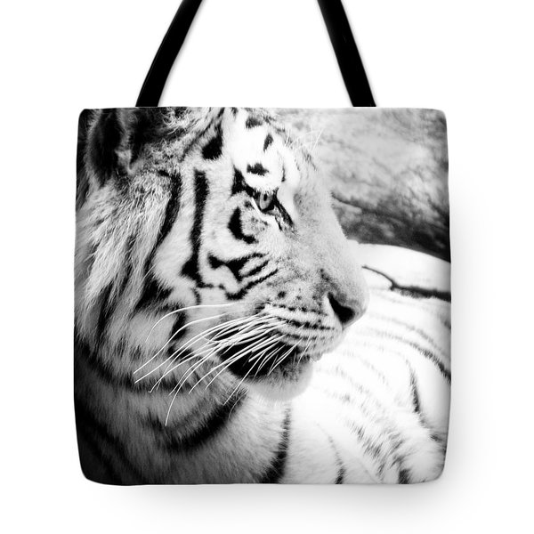 Tote Bag featuring the photograph Tiger Watch by Erika Weber