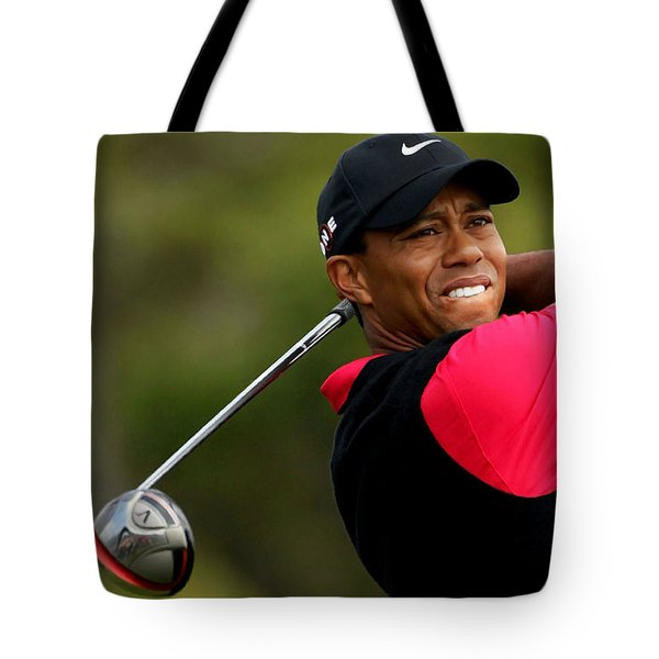 Tiger Woods Golf Tote Bag by Lanjee Chee