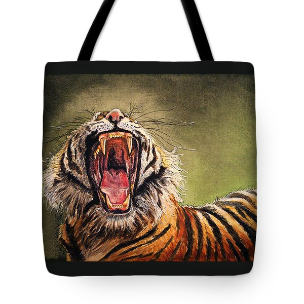 Tiger Yawn Tote Bag