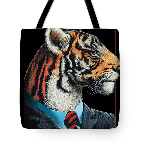 Tigerman Tote Bag by Scott Ross