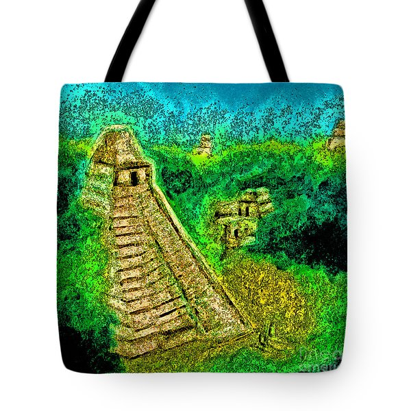 Tikal By Jrr Tote Bag by First Star Art