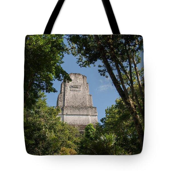 Tikal Pyramid 4b Tote Bag