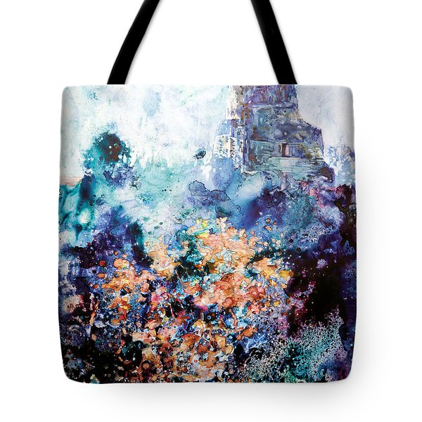 Tikal Ruins Tote Bag by Ryan Fox