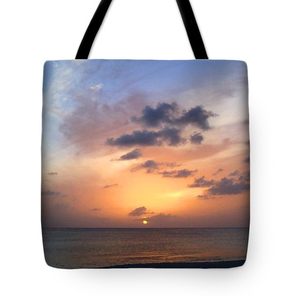 Tiki Beach Caribbean Sunset Tote Bag