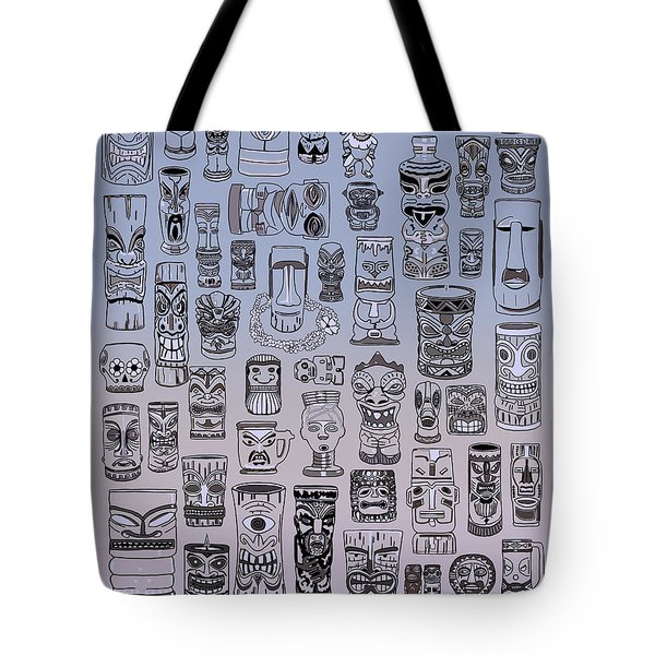 Tote Bag featuring the digital art Tiki Cool Zone by Megan Dirsa-DuBois