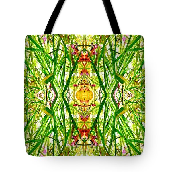 Tiki Idols In The Grass  Tote Bag