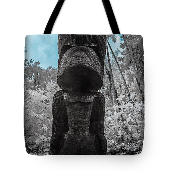 Tiki Man In Infrared Tote Bag