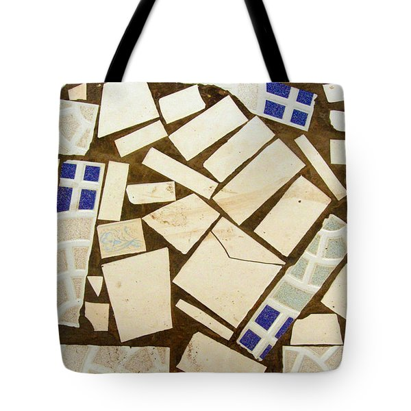 Tile Pieces In Brown Grout Tote Bag