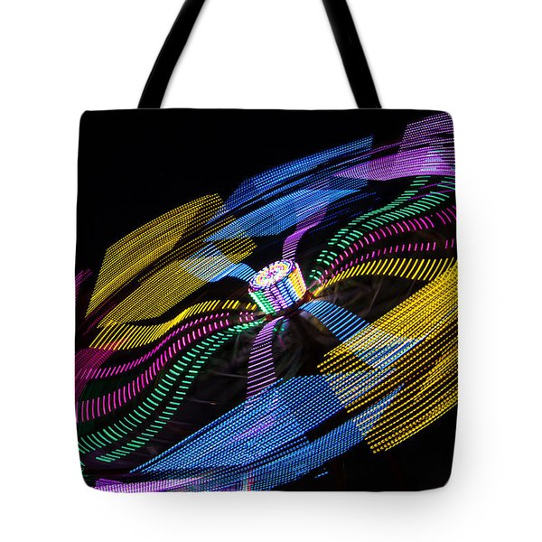 Tote Bag featuring the photograph Tilt A Whirl by Steven Bateson