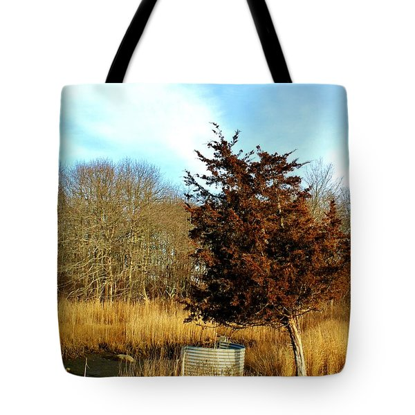 Tilted Tree  Tote Bag