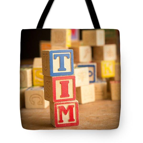 Tim - Alphabet Blocks Tote Bag