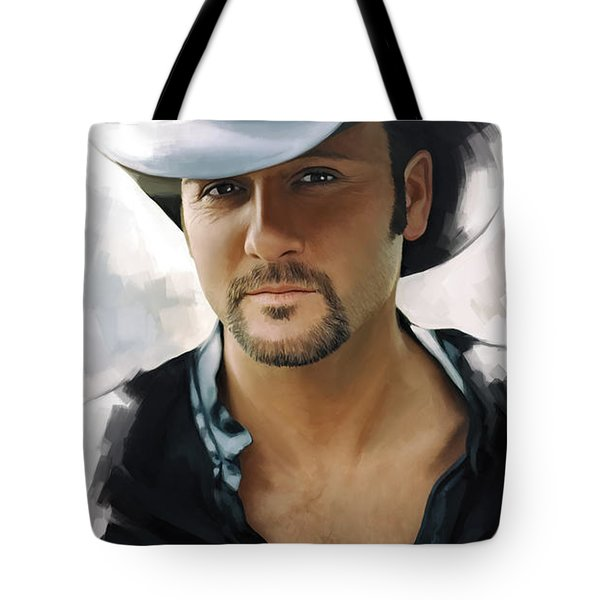 Tim Mcgraw Artwork Tote Bag