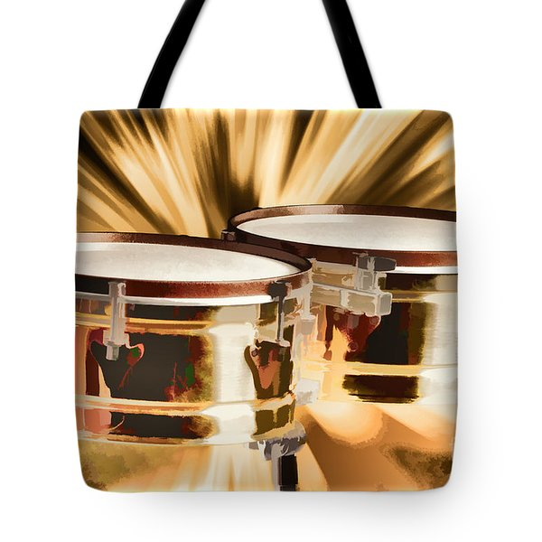 Timbale Drums For Latin Music Painting In Color 3326.02 Tote Bag by M K  Miller