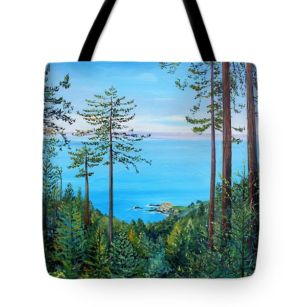 Timber Cove On A Still Summer Day Tote Bag