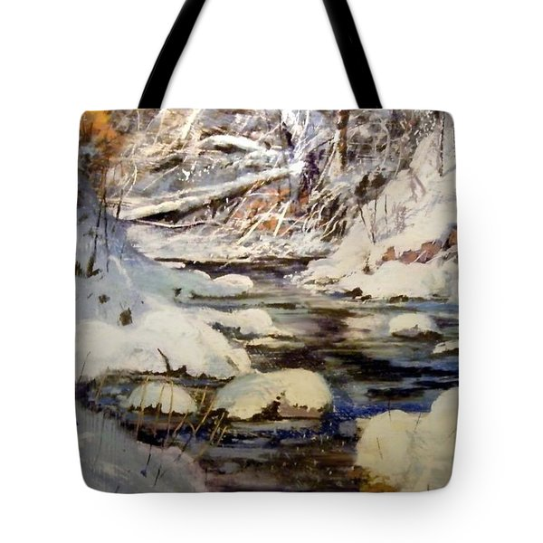 Timber Creek Winter Tote Bag by Joseph Barani