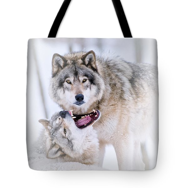 Timber Wolf Pictures 56 Tote Bag