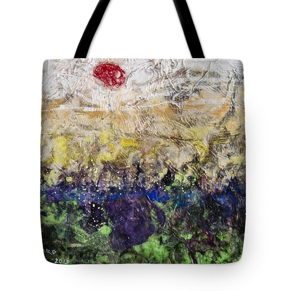 Tote Bag featuring the painting Time And Place by Ron Richard Baviello