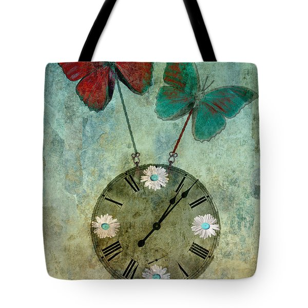 Time Flies Tote Bag by Aimelle