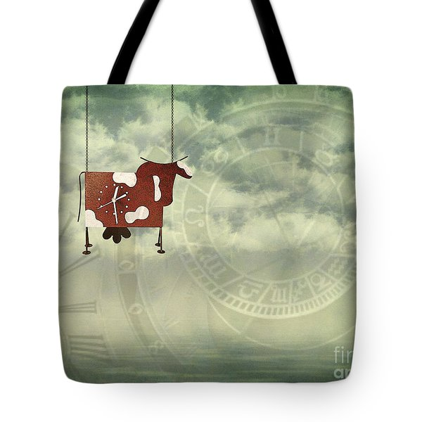 Time Flies Tote Bag by Jutta Maria Pusl