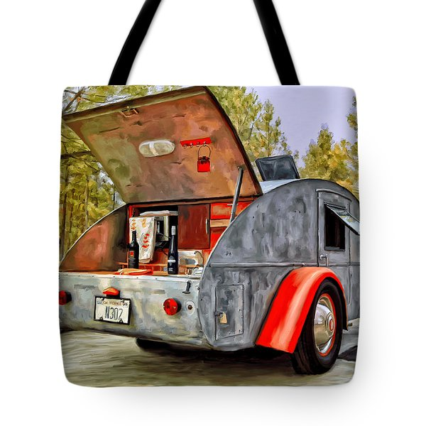 Time For Camping Tote Bag