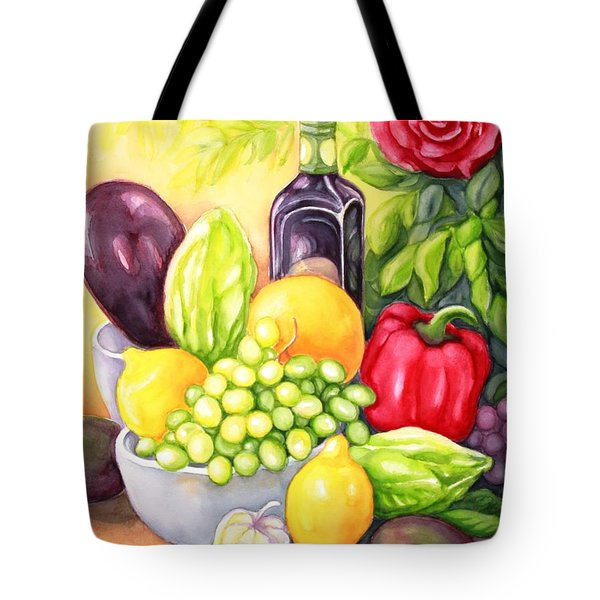 Time For Fruits And Vegetables Tote Bag by Inese Poga