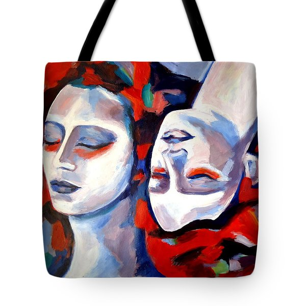 Tote Bag featuring the painting Time Goes By by Helena Wierzbicki