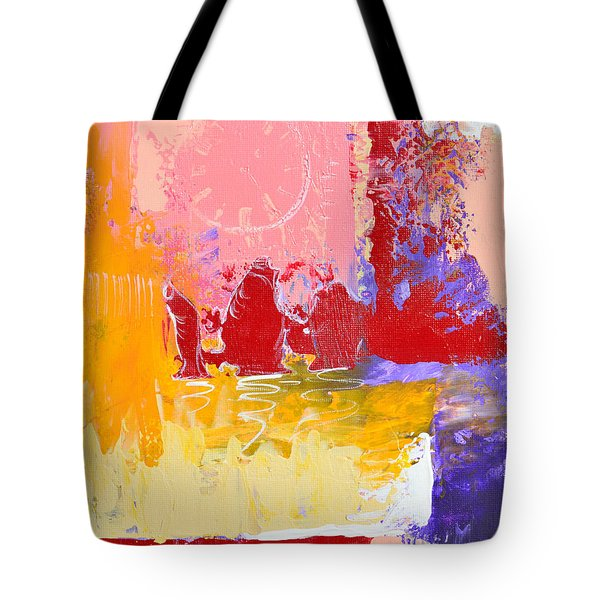 Time Is Fading Away Tote Bag by Donna Blackhall