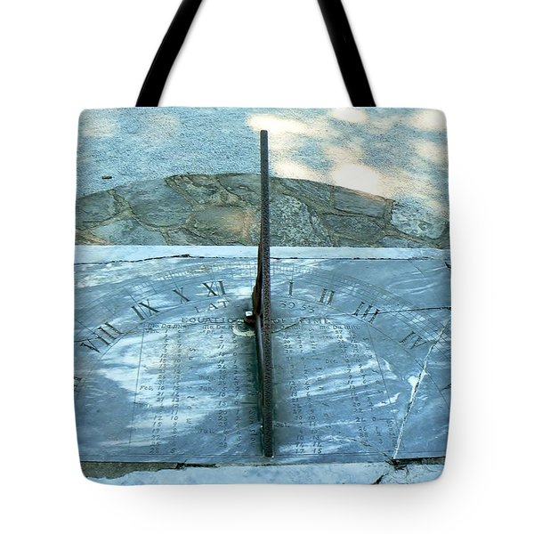 Time Keeps On Ticking Tote Bag by Michael Porchik