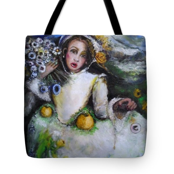 Tote Bag featuring the painting Time by Laurie L