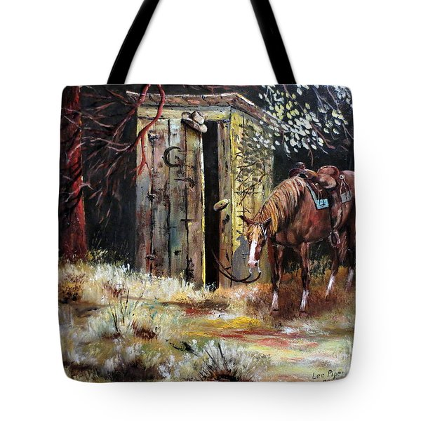 Time Out Tote Bag by Lee Piper