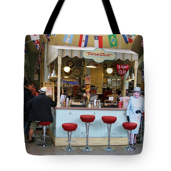 Time Out Snack Bar In Bath England Tote Bag by Jack Schultz