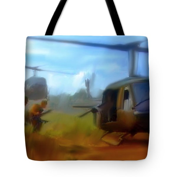 Time Sacrificed II Vietnam Veterans  Tote Bag by Iconic Images Art Gallery David Pucciarelli