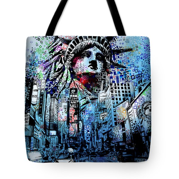 Times Square 2 Tote Bag