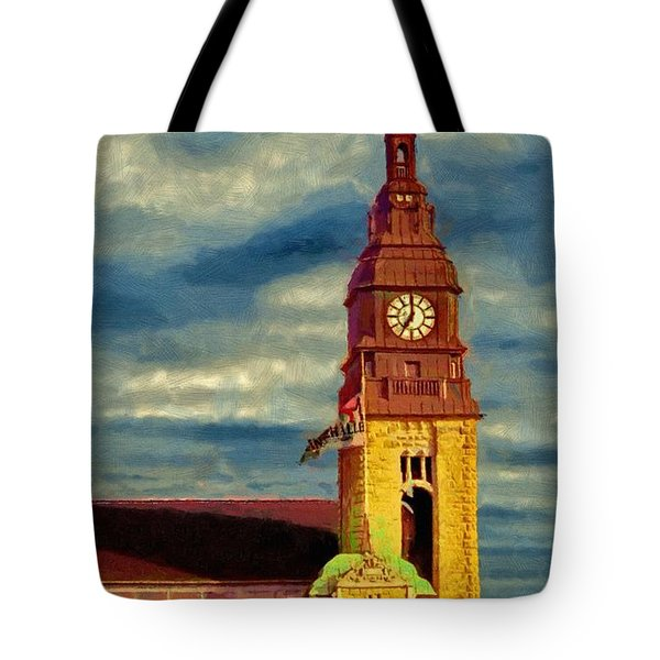 Tote Bag featuring the painting Time To Go by Jeff Kolker